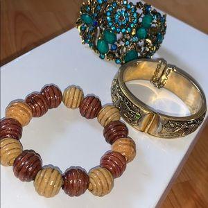 """3 old """"Vintage"""" bracelets"""